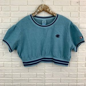 Champion vintage dye crop sweatshirt top ringer